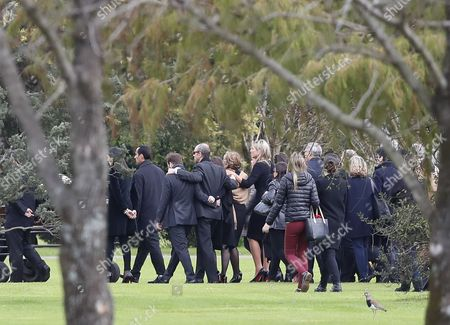 Family and friends including Dutch Queen Maxima Zorreguieta (5-L), and her husband, King Guillermo Alexander (C), attend the funeral of Jorge Zorreguieta in the Memorial Cemetery of the locality of Pilar, Province of Buenos Aires, Argentina, 10 August 2017. Zorreguieta, father of Queen Maxima of the Netherlands, died on 08 August 2017, at age 89.