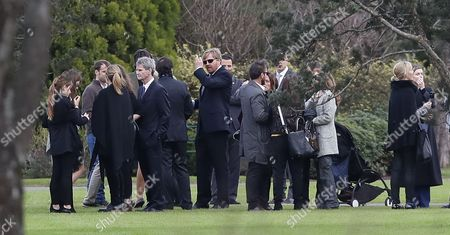 Family and friends including Dutch Queen Maxima Zorreguieta (out of frame), and her husband, King Guillermo Alexander (C), attend the funeral of Jorge Zorreguieta in the Memorial Cemetery of the locality of Pilar, Province of Buenos Aires, Argentina, 10 August 2017.Zorreguieta, father of Queen Maxima of the Netherlands, died on 08 August 2017, at age 89.