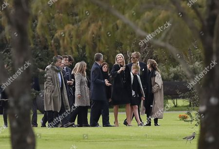 Dutch Queen Maxima Zorreguieta (4-R), and her husband, King Guillermo Alexander (2-R), attend the funeral of Jorge Zorreguieta in the Memorial Cemetery of the locality of Pilar, Province of Buenos Aires, Argentina, 10 August 2017. Zorreguieta, father of Queen Maxima of the Netherlands, died on 08 August 2017, at age 89.
