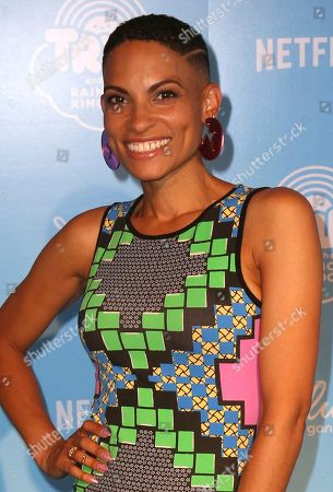 """Goapele arrives at the Special Screening of """"True and the Rainbow Kingdom"""" at The Grove, in Los Angeles"""