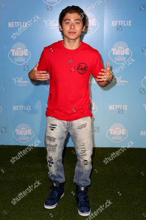 """Ryan Ochoa arrives at the Special Screening of """"True and the Rainbow Kingdom"""" at The Grove, in Los Angeles"""