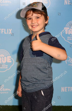 "Cooper J. Friedman arrives at the Special Screening of ""True and the Rainbow Kingdom"" at The Grove, in Los Angeles"