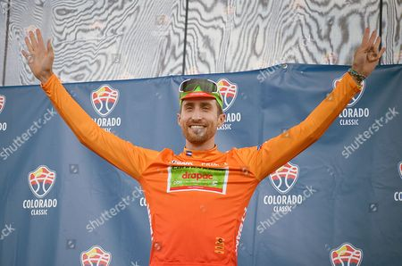 Colorado Springs, Colorado, U.S. - Cannondale Drapac's, Taylor Phinney, wears the most aggressive rider's jersey following the opening stage of the inaugural Colorado Classic cycling race, Colorado Springs, Colorado