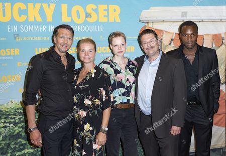 Stock Image of Kai Wiesinger, Annette Frier, Emma Bading, Peter Trabner, Elvis Clausen