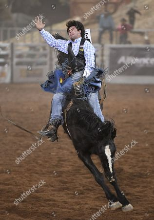 Jack Kidd competes in the Open Bareback category at the Mount Isa Rodeo in Mount Isa, Queensland, Australia, 11 August 2017. The event, in the remote outback town of Mount Isa, is the biggest rodeo in the Southern Hemisphere.