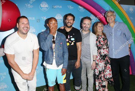 Pharrell Williams, Bill Schultz, Frank Falcone, Arturo Sandoval, Samuel Borkson