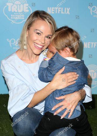 Stock Photo of Julie Solomon and son Camden Quinn Schaech