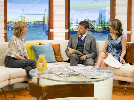 Charlie Hardwick with Ben Shephard and Charlotte Hawkins