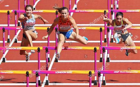 Stock Picture of Jung Hye-lim, Nadine Visser and Nadine Hildebrand
