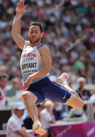 Ashley Bryant of Great Britain competes in the Long Jump event of the Decathlon at the London 2017 IAAF World Championships in London, Britain, 11 August 2017.
