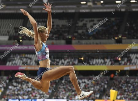 Darya Klishina of Russia competes in the women's Long Jump final at the London 2017 IAAF World Championships in London, Britain, 11 August 2017.
