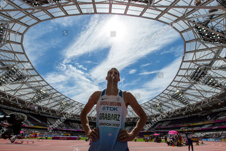 Stock Image of Robbie Grabarz of Great Britain during the Men's High Jump qualification