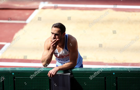 Ashley Bryant of Great Britain during the Decathlon Men's Long Jump