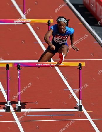 Kendra Harrison of USA  during the Women's 100 meters Hurdles heats