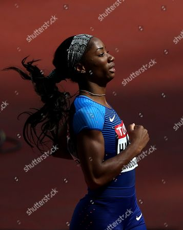 Kendra Harrison of USA after the Women's 100 meters Hurdles heats