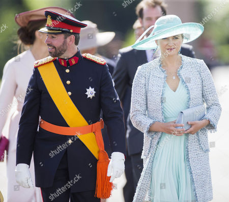 The Crown Prince of Luxembourg Hereditary Grand Duke Guillaume of Luxembourg. and his wife Princess Stephanie of Luxembourg