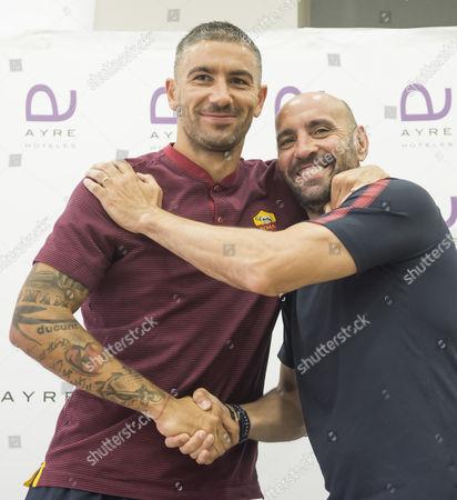Ramon Rodriguez 'Monchi' and Aleksandar Kolarov
