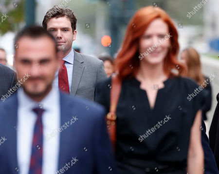 Tree Paine, Austin Swift Austin Swift, back center in red tie, follows his sister Taylor Swift's publicist, Tree Paine into the morning session in the civil trial for the pop singer to determine whether a Denver radio host groped the singer in a case in federal court, in Denver