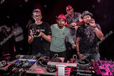 DJ Stretch Armstrong, D-Nice, Dave Chappelle and DJ Trauma