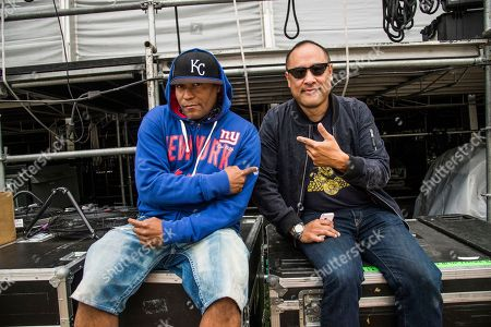 Keith Thornton, Kool Keith, Dan the Automator, Dan Nakamura Kool Keith, left, and Dan the Automator of Dr. Octagon pose at 2017 Outside Lands Music Festival at Golden Gate Park, in San Francisco, Calif