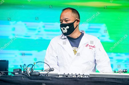 Stock Photo of Dan the Automator, Dan Nakamura Dan the Automator of Dr. Octagon performs at 2017 Outside Lands Music Festival at Golden Gate Park, in San Francisco, Calif