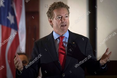 Tea Party Rally Senator Rand Paul, R-Ky., speaks to supporters gathered at The Champions of Liberty Rally in Hebron, Ky., . Paul was joined at the fundraising event by Kentucky Gov. Matt Bevin, and U.S. Reps Thomas Massie, R-Ky., and Jim Jordan, R-Ohio