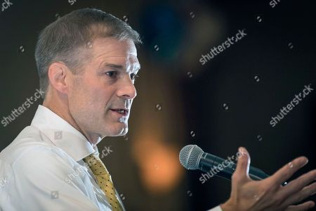 Tea Party Rally Rep. Jim Jordan, R-Ohio, speaks to supporters gathered at The Champions of Liberty Rally in Hebron, Ky., . Rep. Jordan was joined at the fundraising event by Kentucky Gov. Matt Bevin, U.S. Rep Thomas Massie, R-Ky., and Senator Rand Paul, R-Ky