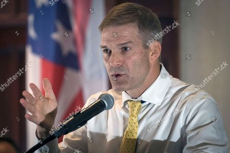 Tea Party Rally Rep. Jim Jordan, R-Ohio, speaks to supporters gathered at The Champions of Liberty Rally in Hebron, Ky., . Rep. Jordan was joined at the fundraising event by Kentucky Gov. Matt Bevin, U.S. Rep. Thomas Massie, R-Ky., and Senator Rand Paul, R-Ky