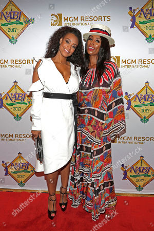 """Tami Roman and Tasha Smith attend TV One's """"When Love Kills: The Falicia Blakely Story"""" premiere at the NABJ convention at Hilton New Orleans Riverside on in New Orleans, La"""