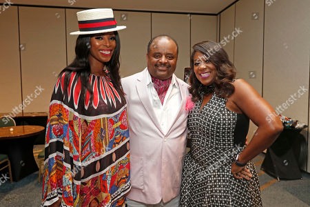 """Tasha Smith, Roland Martin, and D'Angela Proctor attend TV One's """"When Love Kills: The Falicia Blakely Story"""" premiere at the NABJ convention at Hilton New Orleans Riverside on in New Orleans, La"""