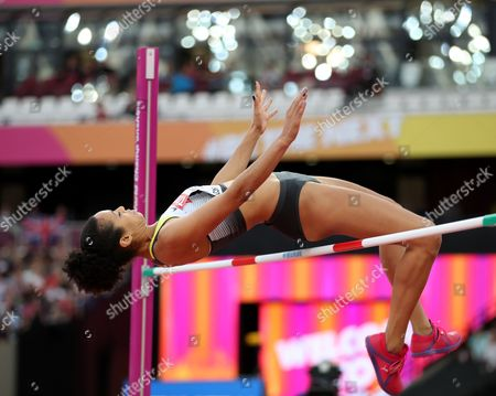 Marie-Laurence Jungfleisch of Germany competes in the women's High Jump final at the London 2017 IAAF World Championships in London, Britain, 12 August 2017.