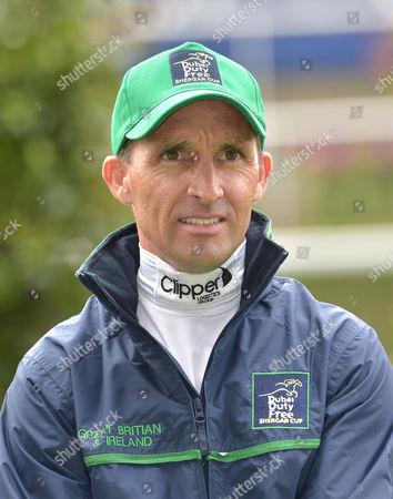 Neil Callan, jockey, of The Great Britain and Ireland Team.