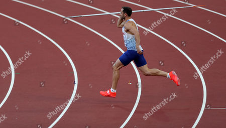 Stock Photo of Ashley Bryant of Great Britain during the Decathlon Men's Javelin