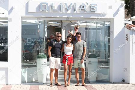 Elliott Wright, Sadie Stuart and Bobby Cole Norris at Olivia's restaurant