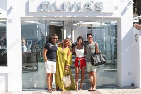 Elliott Wright, Gemma Collins, Sadie Stuart and Bobby Cole Norris at Olivia's Restaurant