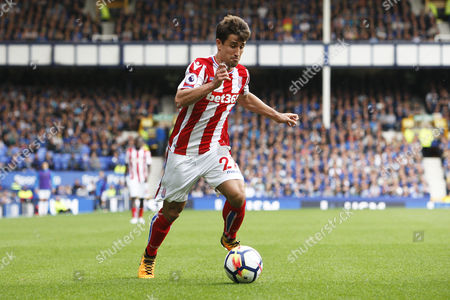 Stoke City Bojan Krkic (27) during the Premier League match between Everton and Stoke City at Goodison Park, Liverpool
