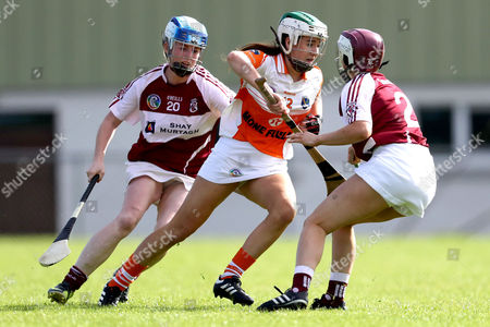 Liberty Insurance All-Ireland Premier Junior Championship Semi-Finals, O'Connell Park, Drumlane, Cavan 12/8/2017. Armagh vs Westmeath. Armagh's Ciara Hill with Louise O?Connor and Sarah King of Westmeath