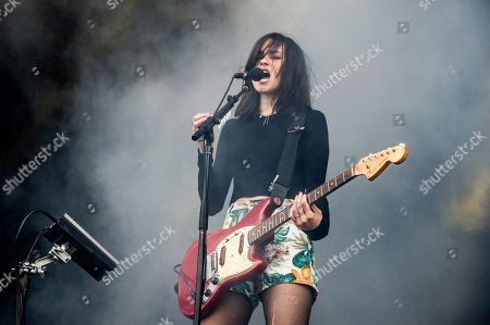Theresa Wayman of Warpaint performs at the 2017 Outside Lands Music Festival at Golden Gate Park, in San Francisco, Calif