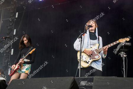 Theresa Wayman, Emily Kokal Theresa Wayman, left, and Emily Kokal of Warpaint perform at the 2017 Outside Lands Music Festival at Golden Gate Park, in San Francisco, Calif