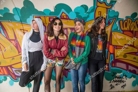 Stock Picture of Emily Kokal, Theresa Wayman, Jenny Lee Lindberg, Stella Mozgawa Emily Kokal, from left, Theresa Wayman, Jenny Lee Lindberg and Stella Mozgawa of Warpaint pose at the 2017 Outside Lands Music Festival at Golden Gate Park, in San Francisco, Calif