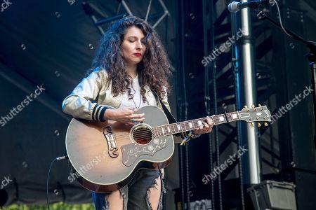 Natalie Closner of Joseph performs at the 2017 Outside Lands Music Festival at Golden Gate Park, in San Francisco, Calif