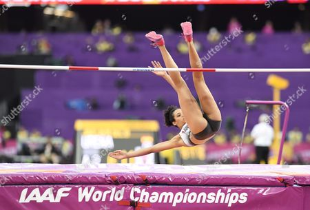 Marie-Laurence Jungfleisch of Germany competes during the women's high jump final during the IAAF World Championships in Athletics in London, 12th August, 2017.