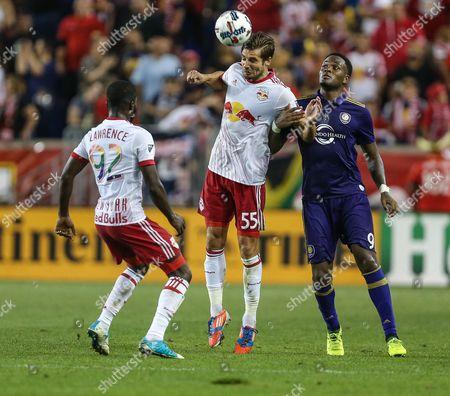 Editorial photo of MLS Orlando City SC vs New York Red Bulls, Harrison, USA - 12 Aug 2017