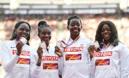 Stock Photo of Asha Philip, Desiree Henry, Dina Asher-Smith and Daryll Neita