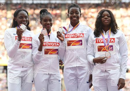 Stock Picture of Asha Philip, Desiree Henry, Dina Asher-Smith and Daryll Neita