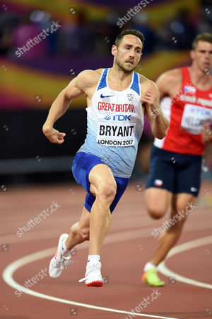 Ashley Bryant of Great Britain in action