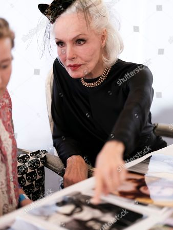 Actress and former Cat Woman Julie Newmar signs autographs at CatCon 2017 in Pasadena, Calif