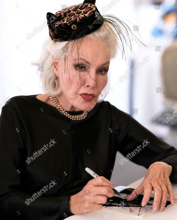 Actress and former Cat Woman, Julie Newmar signs autographs at CatCon 2017 in Pasadena, Calif