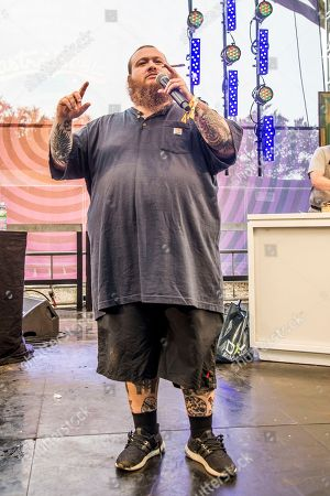Action Bronson, Arian Asllani Action Bronson performs at the 2017 Outside Lands Music Festival at Golden Gate Park, in San Francisco, Calif