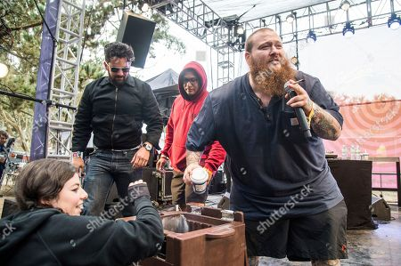 Action Bronson, Arian Asllani Action Bronson hands out frozen yogurt at the 2017 Outside Lands Music Festival at Golden Gate Park, in San Francisco, Calif